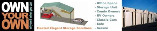 Own your own garage - heated storage solutions in Lakewood, Gig Harbor Washington